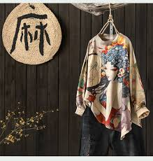 Printing Dyeing Loose <b>Round Neck</b> Women Sweater 2018 <b>Autumn</b> ...