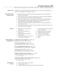 resume for triage nurse resumecareer info resume for registered nurse resume