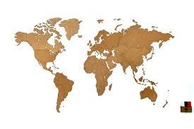 <b>Деревянная карта мира</b> World Map Wall Decoration Medium ...