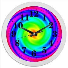 "<b>Часы круглые из</b> пластика Абстракция ""спираль"" #2683455 от Лана"