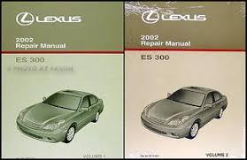 lexus es wiring diagram manual original 2002 lexus es 300 repair shop manual 2 volume set original es300 259 00