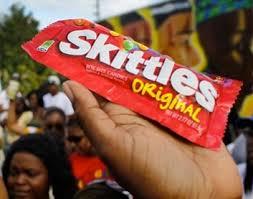 Image result for trayvon martin skittles