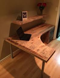 l shaped curved desk with drawers by reclaimtofame1 on etsy beautiful office desks shaped 5