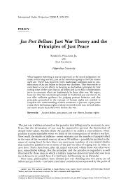 Jus Post Bellum: <b>Just War</b> Theory and the Principles of <b>Just Peace</b>