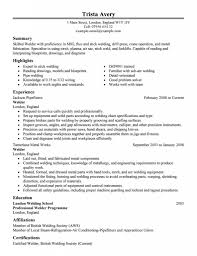certified welder resume example description of a welder
