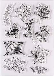 <b>Clear</b> Stamps for Cards Making, Kissbuty <b>Leaves Silicone</b> Stamps ...