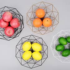 <b>Nordic style Iron</b> Art Fruit Storage Basket Home Organizer Bowl For ...