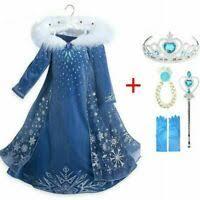 <b>Frozen</b> 2 <b>Adult Elsa</b> Cosplay Costume Blue <b>Princess</b> Dress <b>Fancy</b> ...