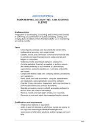 bookkeeping  accounting and auditing clerk job description    bookkeeping  accounting and auditing clerk job description