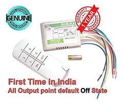 Sisah 4 Way ON/OFF Digital <b>RF Remote Control</b> Plastic Wireless ...