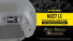 New Product - <b>NITECORE NU07 LE</b> 5-Color Signal Light