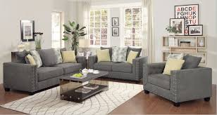 furniture doralynn living room set  living room living room s coaster furniture kelvington charcoal grey