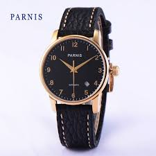 popular 38mm mens watch buy cheap 38mm mens watch lots from 38mm parnis casual watches style sapphire crystal black dial rose gold case men watch business men s