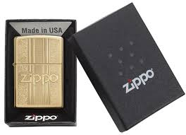 <b>Зажигалка</b> Zippo <b>Pattern Design</b> High Polish Brass 29677