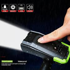 4000mAh <b>Induction Bicycle Front</b> Light Set USB Rechargeable ...