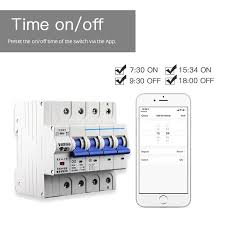 <b>2P</b> WiFi Smart Circuit Breaker Switch Smart Home Automation ...