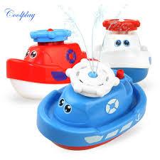 Mini Cute Boat Bath Toy Automatic Spraying <b>Water</b> Boat <b>Float</b> ...