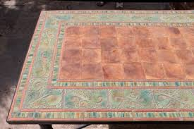 Outdoor dining table - <b>mosaic table</b> - marbella - rectangular ...