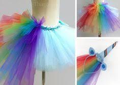 <b>RAINBOW UNICORN</b> COSTUME, Custom Colors, <b>Tutu Skirt</b> 2pc Set w
