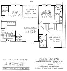 Two story bedroom bath country style house plan House Plans    bedroom bathroom house plans   home plans in Two Bedroom Two Bath House Plans