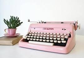 Bildresultat för rosa skrivmaskin