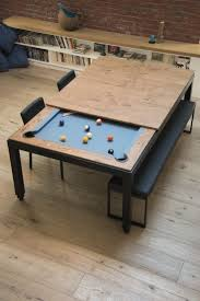 pool table dining tables: steel pool table fusiontables metal line dining pools fusiontables saluc