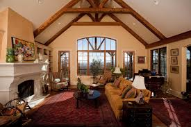 elegant rustic living room with vaulted ceiling amp oriental rug hgtv and rustic living room awesome awesome cathedral ceiling lighting 15