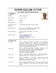 Cv Sample Uk Jobs After School Africa