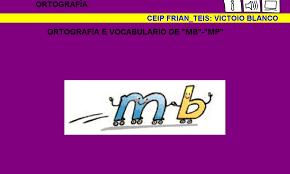 Resultado de imagen de PALABRAS CON MB Y MP
