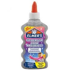 """Клей для слаймов """"<b>Elmers</b>"""", с серебристыми блестками, 177 мл ..."""