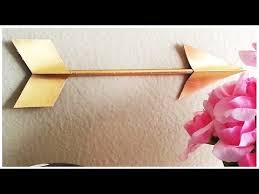 {DIY} Gilded <b>Arrow</b> (Straw and Paper) - YouTube