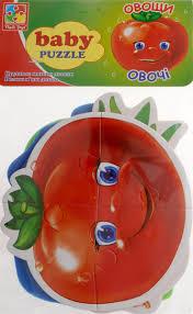 Vladi Toys <b>Мягкие пазлы Baby puzzle</b> Овощи — купить в интернет ...