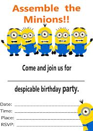 minion birthday invitations minion birthday invitations template minion birthday invitations template