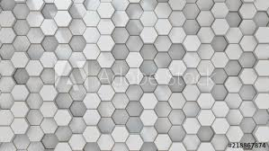 Set of white metal hexagons. <b>Creative honeycomb</b> geometric ...