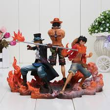 <b>3pcs/set Anime One</b> Piece DXF Luffy Ace Sabo Boxed PVC Action ...