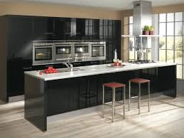 captivating black white marble kitchen table amazing stainless stove glossy black wooden kitchen cabinets modern red wooden chair black white modern kitchen tables
