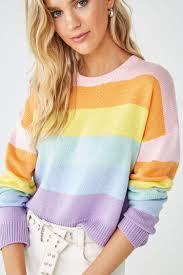 <b>Rainbow Striped Sweater</b> | Forever 21