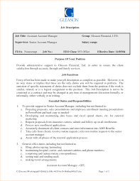 accounts assistant job description business proposal templated job description job title assistant account manager group gleason