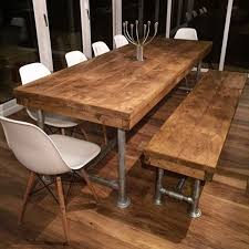 real rustic kitchen table long: ft reclaimed industrial rustic scaffold pole plank board boardroom dining table ebay
