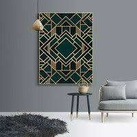 <b>Classic Cube Geometric Canvas</b> Painting Wall Art Posters and ...