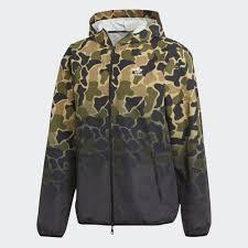 <b>Ветровка</b> мужская Adidas <b>Camo</b> Wb, цвет: хаки. CE1545. <b>Размер</b> ...