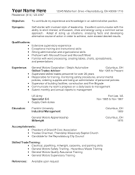objective for warehouse resume examples resume examples  resume