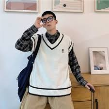 <b>HIYSIZ</b> Sweater Vest <b>Men</b> 2019 Winter Autumn Warm Fashion ...