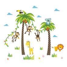 <b>Cartoon</b> Animal Wall Sticker Baby Room Kindergarten Promotion ...
