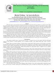 (PDF) <b>Herbal Clothing</b> – An Ayurveda Doctor