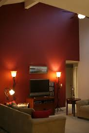 Red Wall Living Room Decorating Deep Red Accent Wall And Then Doing A Beige Colorgold Accents