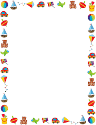 Small Picture Colorful border on a white background featuring childrens toys