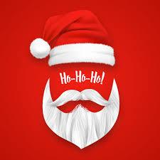 Realistic <b>santa claus christmas</b> mask Vector | Free Download