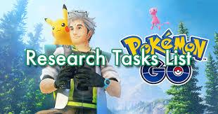Research Tasks List | Pokemon GO Wiki - GamePress