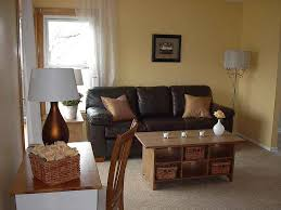paint another smal living room remodeling idea with bright walls and dark furniture sets dark black furniture wall color